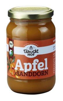 Bio Apfel-Sanddornmus gesüßt