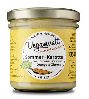Bio Sommer-Karotte mit Erdnuss, Cashew, Orange & Zitrone